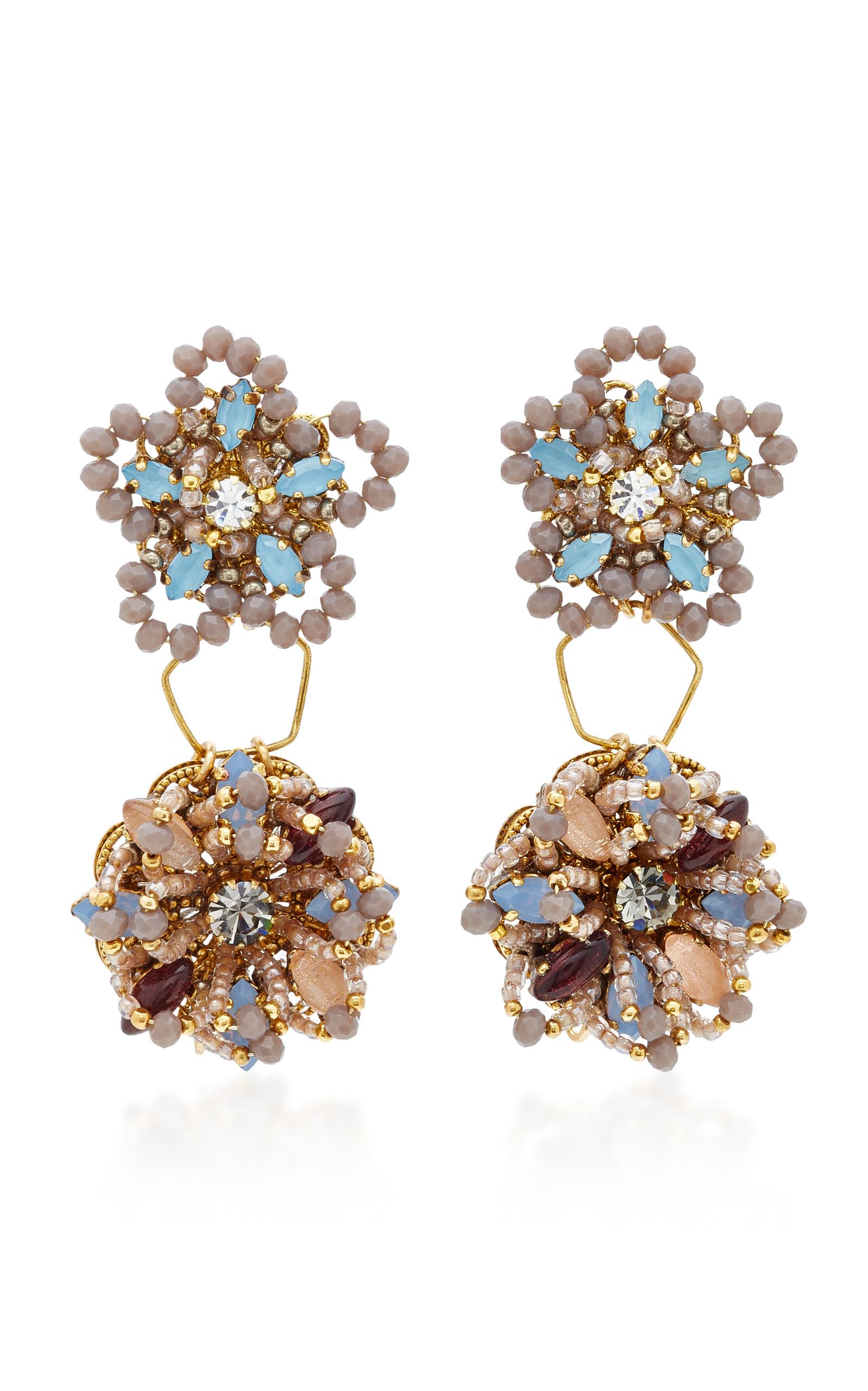 Wild Flower Crystal Necklace Erickson Beamon KOlky9