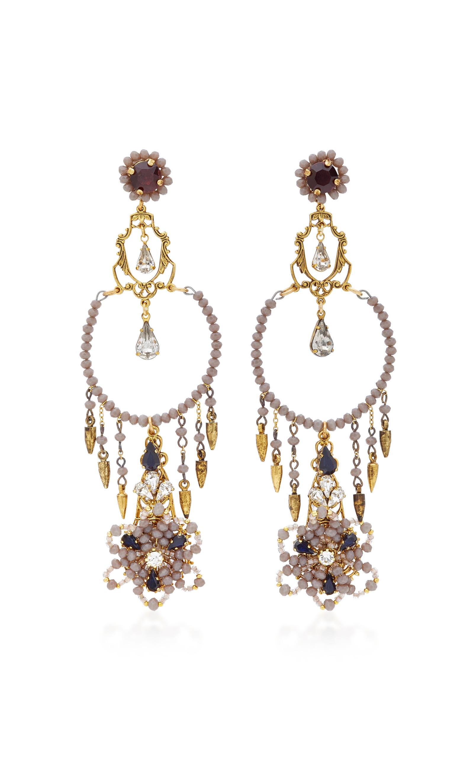 Wild Flower Chandelier Crystal Earrings by Erickson | Moda Operandi