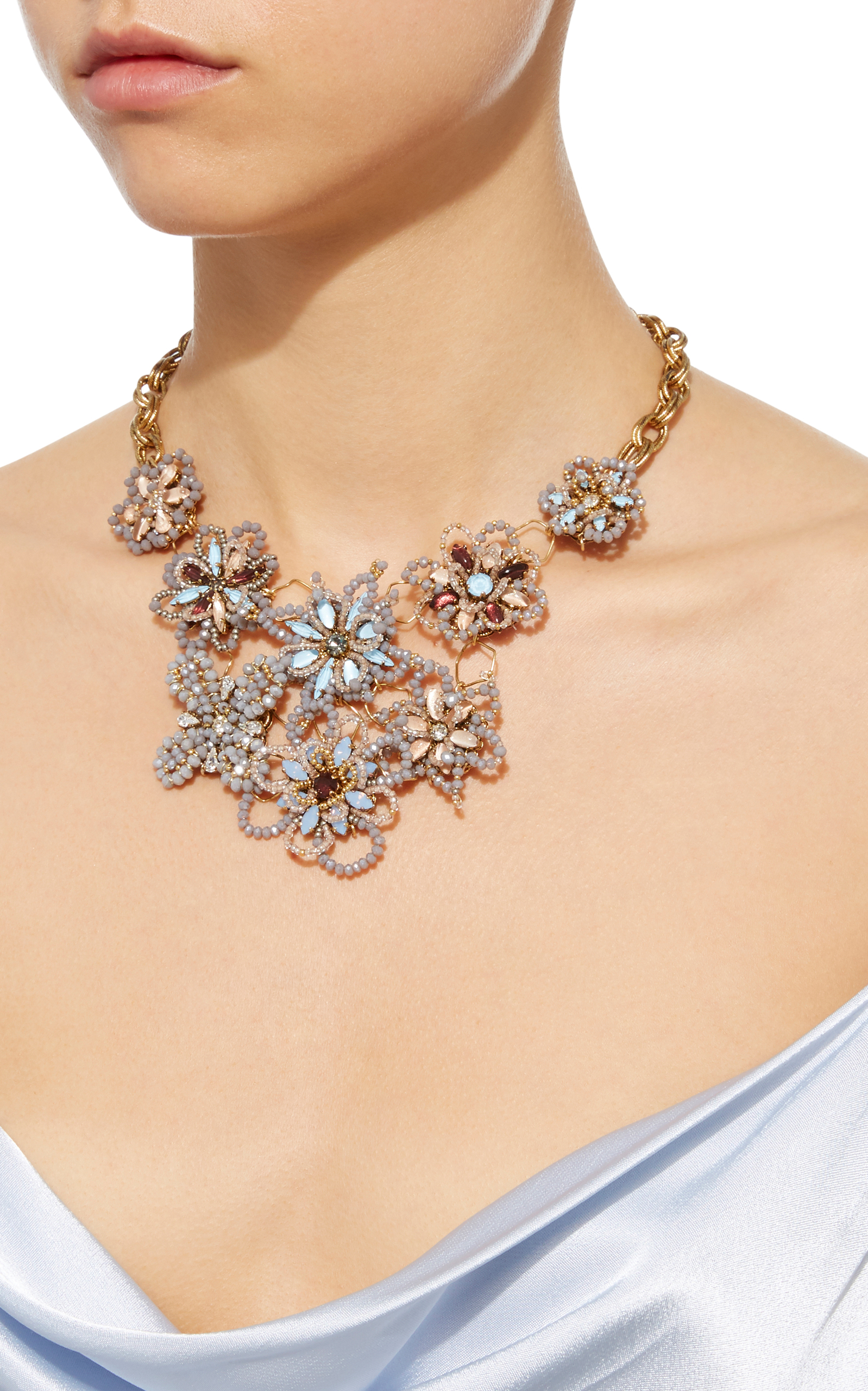 Wild Flower Crystal Necklace Erickson Beamon