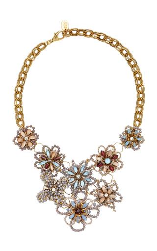 ERICKSON BEAMON | Erickson Beamon Wild Flower Crystal Necklace | Goxip