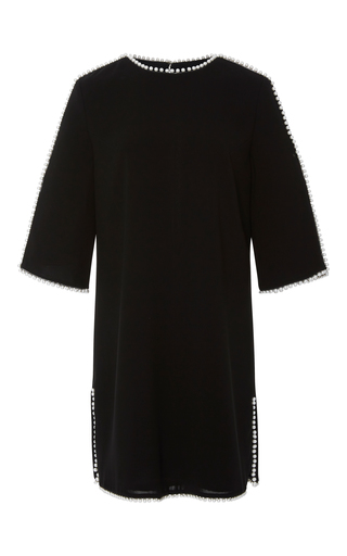 Medium georges hobeika black three quarter length sleeve mini dress
