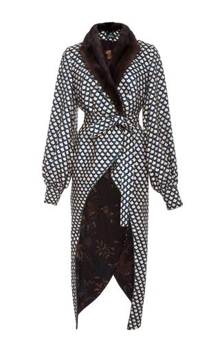 Medium alena akhmadullina print wrap wool jacket