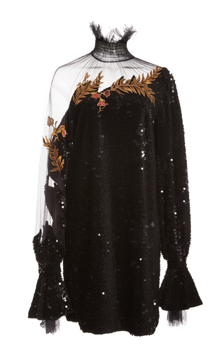 Medium alena akhmadullina black sequin embellished long sleeve dress