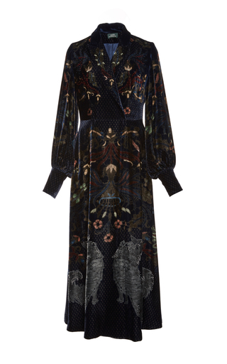 Medium alena akhmadullina print wrap a line dress