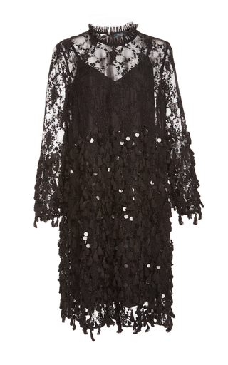 Medium alena akhmadullina black sequin embellished dress