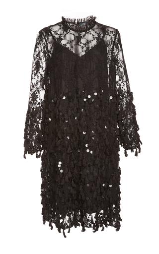Medium alena akhmadullina black sequin embellished dress