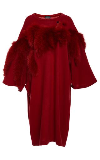 Medium alena akhmadullina red fox fur embellished pullover