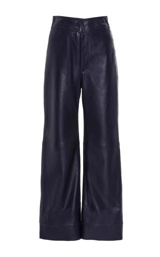 Medium apiece apart navy leather monterey pants