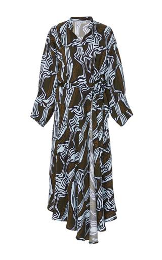 Medium apiece apart print wild waves wrap dress
