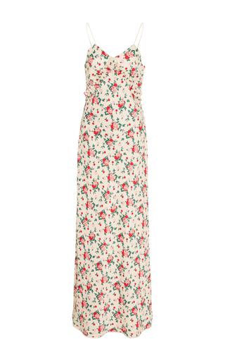 Medium vivetta floral bariki floral slip dress with neck tie