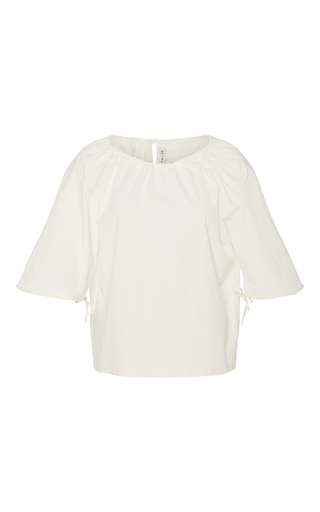 Medium rejina pyo white sofie short sleeve blouse