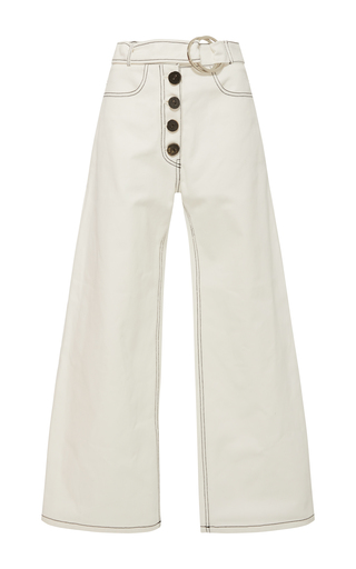 Medium rejina pyo white emily denim trousers 2
