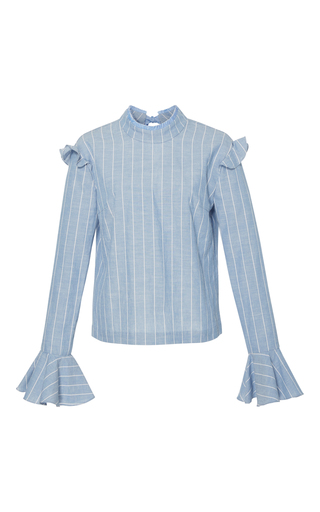 Medium rejina pyo stripe iris blouse