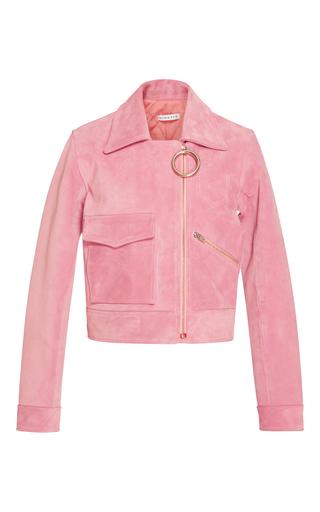 Medium rejina pyo pink sara suede biker jacket