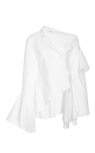 Medium adeam white deconstructed cascade top