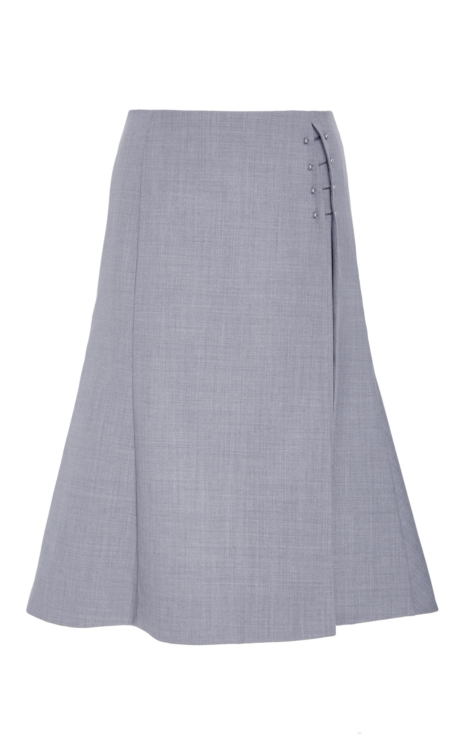 10691f7f93 AdeamSide Slit Flared Skirt. CLOSE. Loading