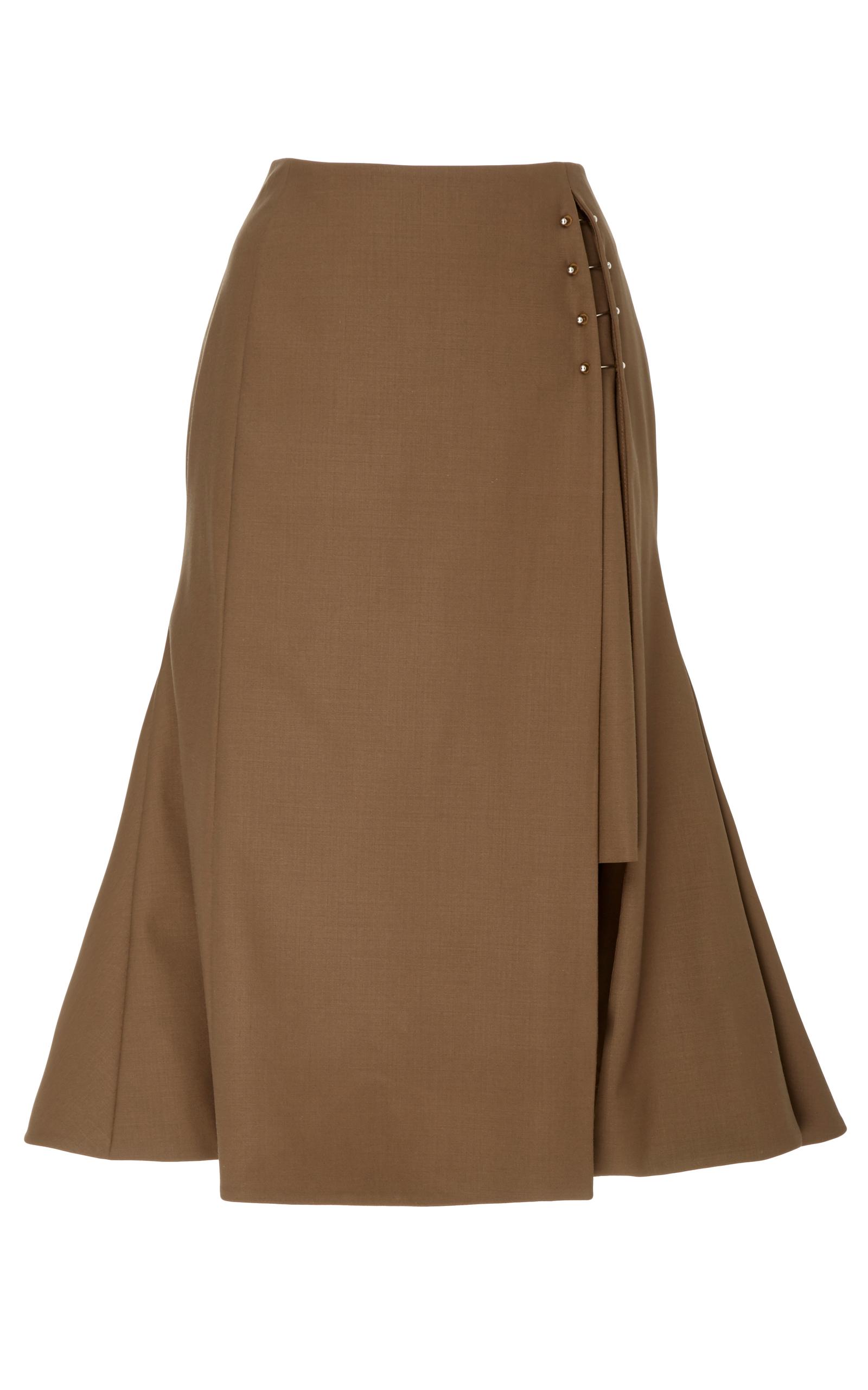 03ecbb178d Side Slit Flared Skirt by Adeam