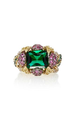 Medium anabela chan green greenberry 18k gold multi stone ring