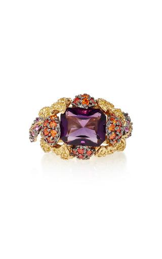 Medium anabela chan purple blackberry 18k gold multi stone ring