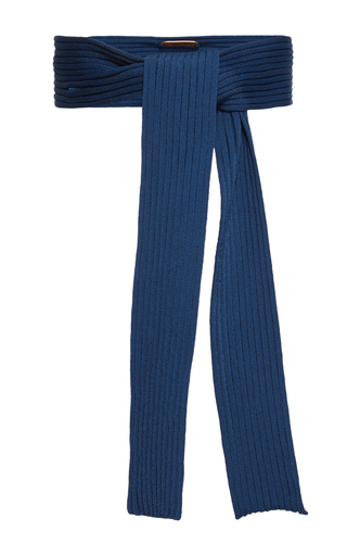 Medium pepa pombo blue rib knit belt