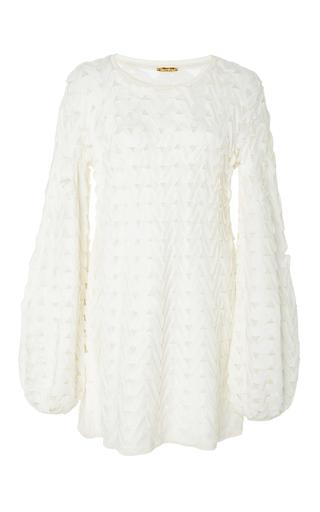 Medium pepa pombo white bell sleeve mini dress 2