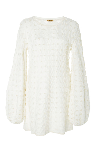 Medium pepa pombo white bell sleeve mini dress 2