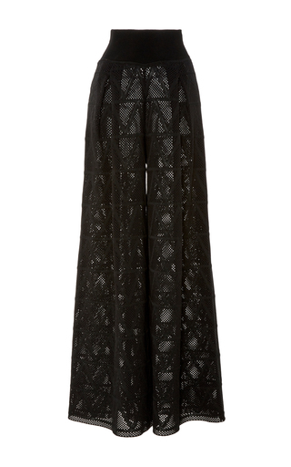 Medium pepa pombo black wide leg textured pant