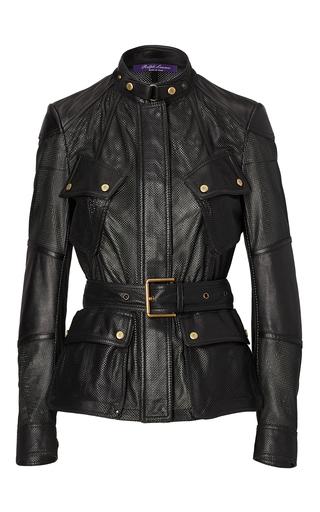 Medium ralph lauren black grafton leather jacket