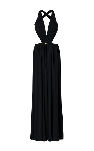 Medium ralph lauren black connelly cutout gown