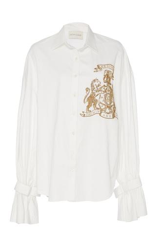 Medium sachin babi white embroidered tami blouse
