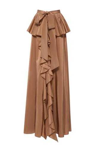 Medium sachin babi brown ruffled agra skirt