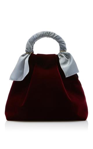 Medium trademark burgundy hazel velvet shopper