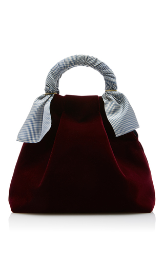 Medium trademark burgundy hazel velvet shopper