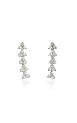 Medium hueb silver reverie 18k white gold earrings