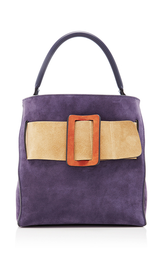 Medium boyy purple devon suede tote