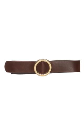 Medium co brown leather belt