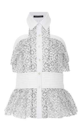 Medium marissa webb white elias lace sleeveless top