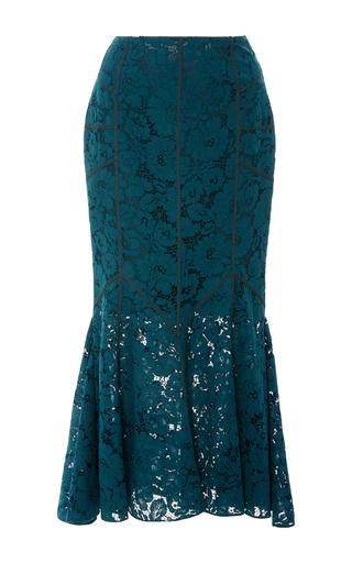 Medium marissa webb blue tallulah bloom lace skirt