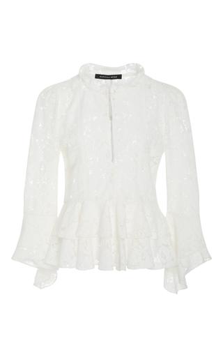 Medium marissa webb white arielle bloom lace blouse