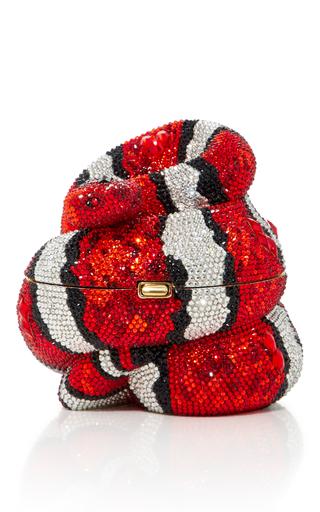 Medium judith leiber red culebra snake clutch