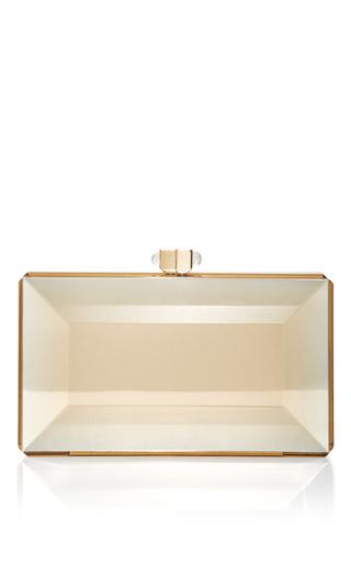 Medium judith leiber gold reflection clutch