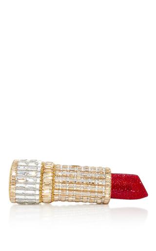 Medium judith leiber gold seductress lipstick clutch
