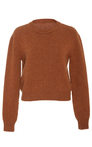 Medium brock orange kelsey cashmere knit