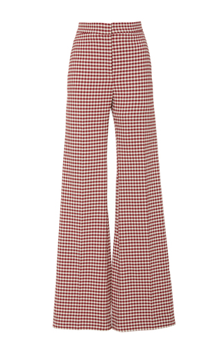 Medium brock print pamela flared gingham pant