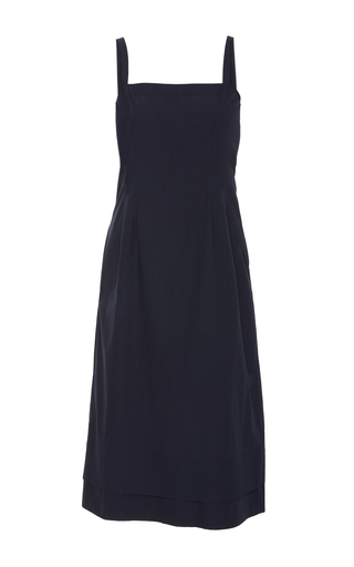 Medium brock blue darcey doble layered hem dress