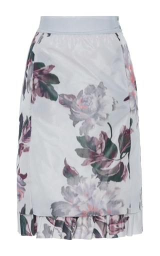 Medium brock floral selin floral pleated hem skirt