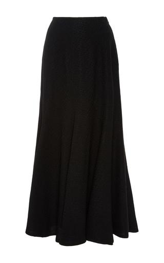 Medium protagonist black paneled flared skirt
