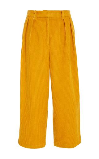 Medium mara hoffman yellow sandra corduroy pant