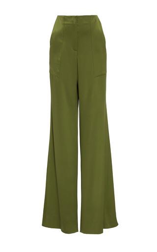 Medium hellessy green patton flared silk pant