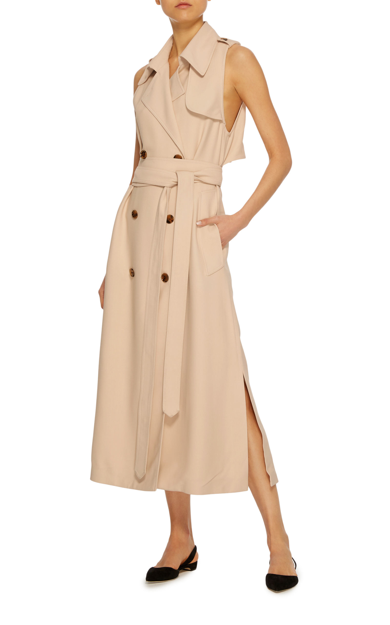 cheap for discount 683f5 a8a2b Donna Trench Wrap Dress